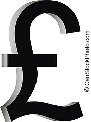 Pound symbol icon on white background