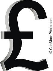 Pound symbol icon on white background.