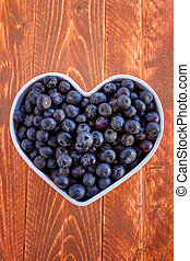 Fresh picked organic blueberries - Fresh organic blueberries...