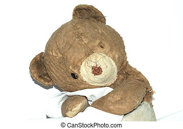 Old Grunge Teddy Bear - This is a sweet old grunge teddy...
