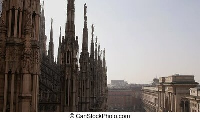 View of Milan, dome and galleria - Italian landmark: view of...