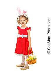 Full length of girl with bunny ears - Full length of lovely...