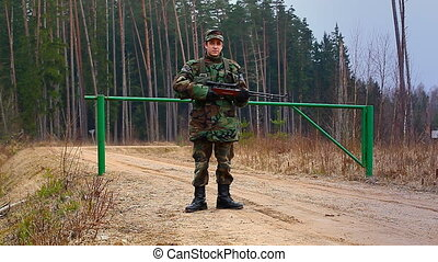 Recruit with optical rifle in the forest episode 5