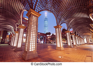 Taipei by night Taiwan - Taipei by night with Taipei 101 the...