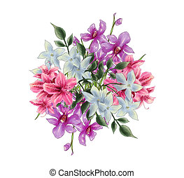Bouquet Illustration - A bouquet of flower illustration...