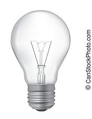 Light bulb realistic drawing - Realistic detailed vector...
