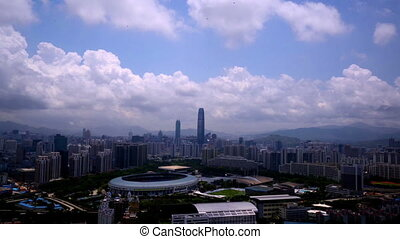The panorama viewed in Shenzhen,China
