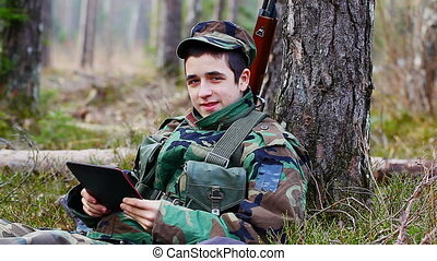 Recruit with optical rifle in the forest episode 16