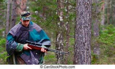 Recruit with optical rifle in the forest episode 17