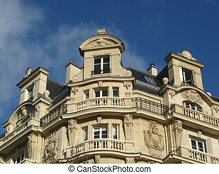 Ancient parisian building - image of an Ancient building in...
