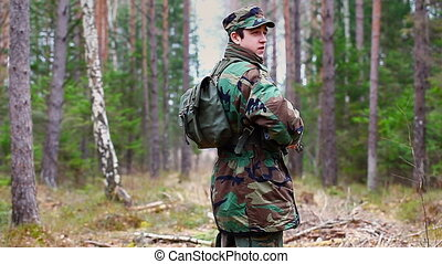 Recruit with optical rifle in the forest episode 19