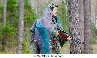 Recruit with optical rifle in the forest episode 20