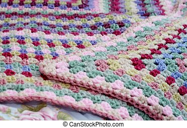 Crochet afghan - Pretty handmade crochet afghan blanket on...