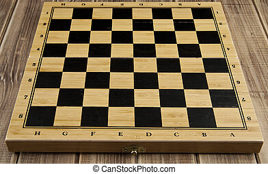 chess Board on a wooden table