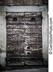 Old Door Of An Old Building At Arezzo, Tuscany, Italy