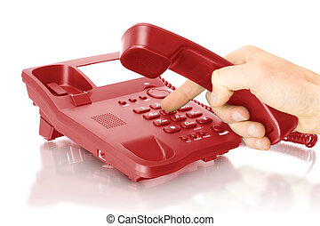 office telephone with hand
