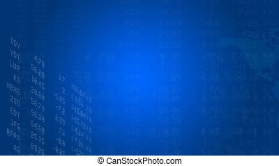 Loopable Global Stock market abstract - CG HD Seamless...