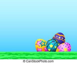 Basketball Easter Eggs in Grass