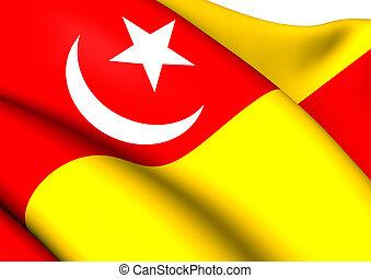 Flag of Selangor, Malaysia.