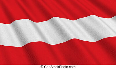 Flag of Austria, seamless loop - Flag of Austria waving in...
