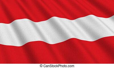 Flag of Austria, seamless loop