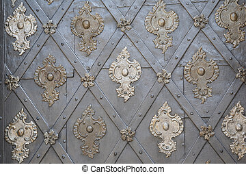 Door of Cathedral in Prague, Czech Republic