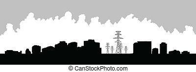 Yonge and Finch Toronto - Skyline silhouette of the...