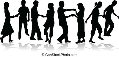 Dancing couple collection vector