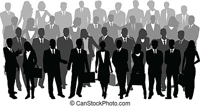 Illustration of business people, vector work