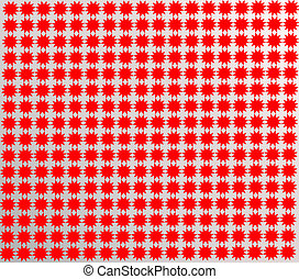 pattern from red shapes like laces - pattern from red equal...