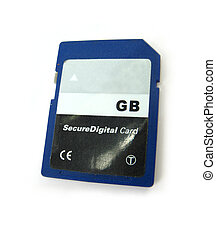 SD card - image of a memory SD card on a white background