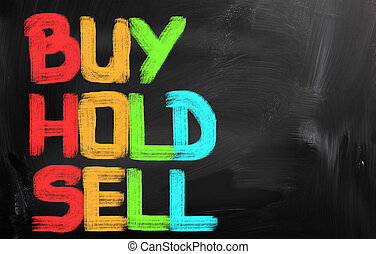 Buy Hold Sell Concept