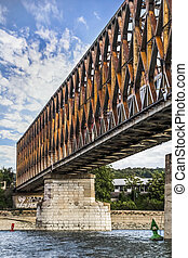 Belgrade's Old Railway Truss Bridge - Belgrade's Old railway...