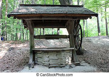 artesian well in Transcarpathian Ukrainian village - image...
