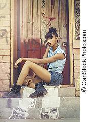 Brooklyn girl - Beautiful young African American woman...