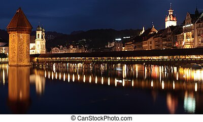 Lucerne (panoramic photo made of multiple shots -> great...