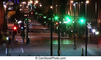 1025 City Traffic and People Nightlife - Loops well Evening...