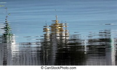 monastery reflected in river water - Ipatiev Monastery of...