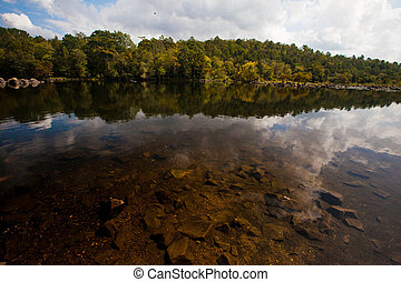 Beavers Bend Lake - This is a photograph over Beavers Bend...
