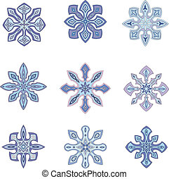 Ornamental snowflakes
