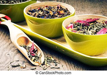 Fflower green tea - Selection of flower green tea