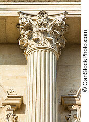 Corinthian Column Of Justice Closeup