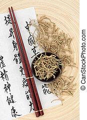 Honeysuckle Flowers - Chinese herbal medicine of dried...