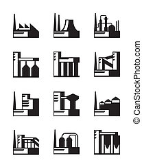 Industrial construction set - vector illustration