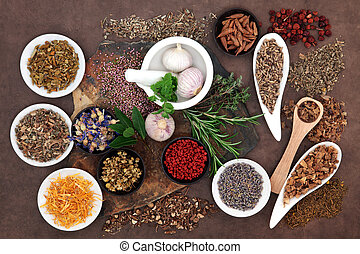 Herbal Wellness - Herbal medicine selection also used in...