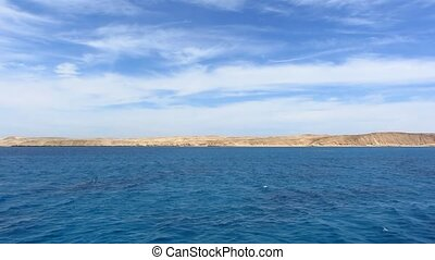 Red Sea - Open Red Sea landscape with blue sky