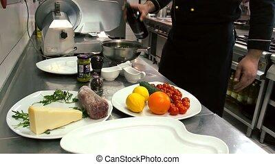 Beef Carpaccio - oil salad.. - Beef Carpaccio - lemon .