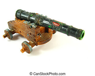 Ancient canon - image of an ancient canon on a white...