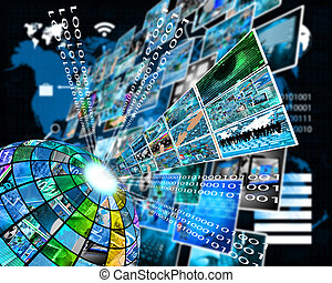 High technology sector - Abstract composition which shows...
