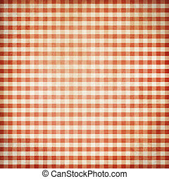 Red grunge checked picnic tablecloth background